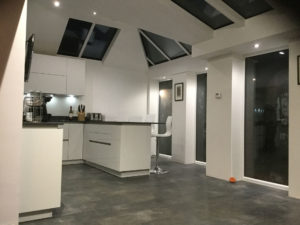 Glass Roof House Extensions Leeds